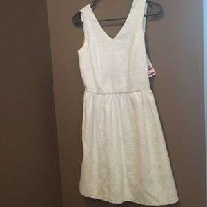 White sleeveless dress, XS